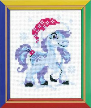 Riolis Cross Stitch Kit. GENTLE SNOW. Suitable for kids or beginners.